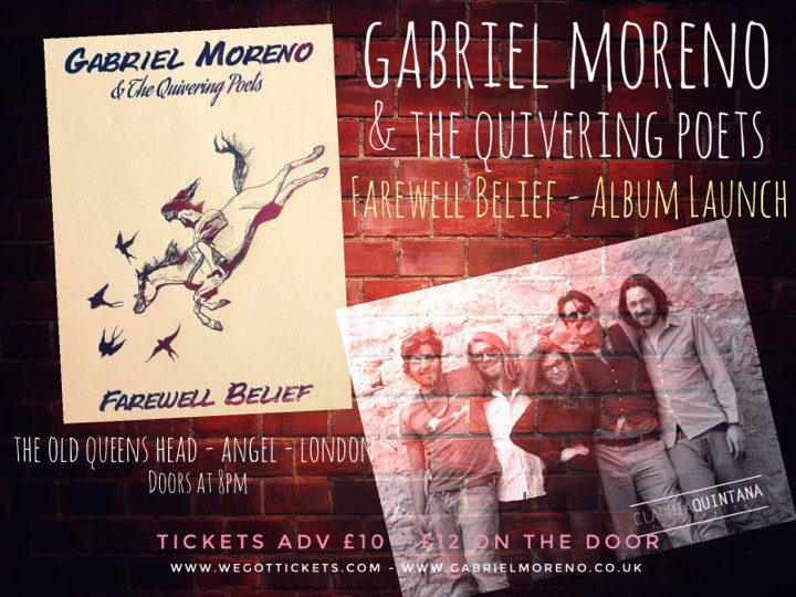 album launch gabriel moreno & the quivering poets